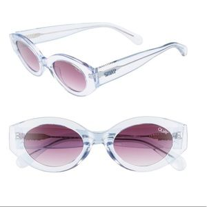 NEW! Quay See me smile periwinkle sunnies